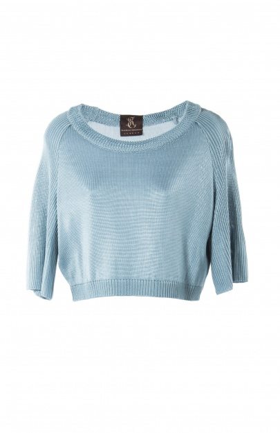 Top with structured raglan