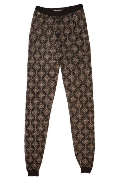 Black/Gold  Knitted Leggings (no crochet)