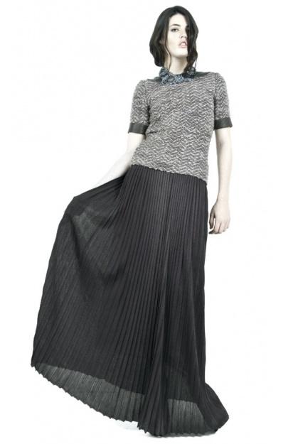 Floor Length Pleated Skirt