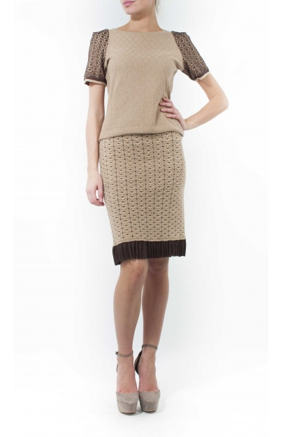 Diamond Beige Skirt