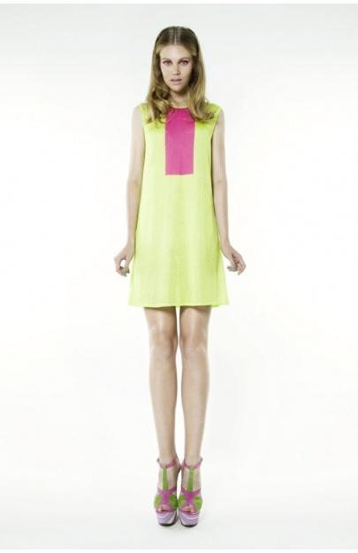 60's Dress with Сolour block